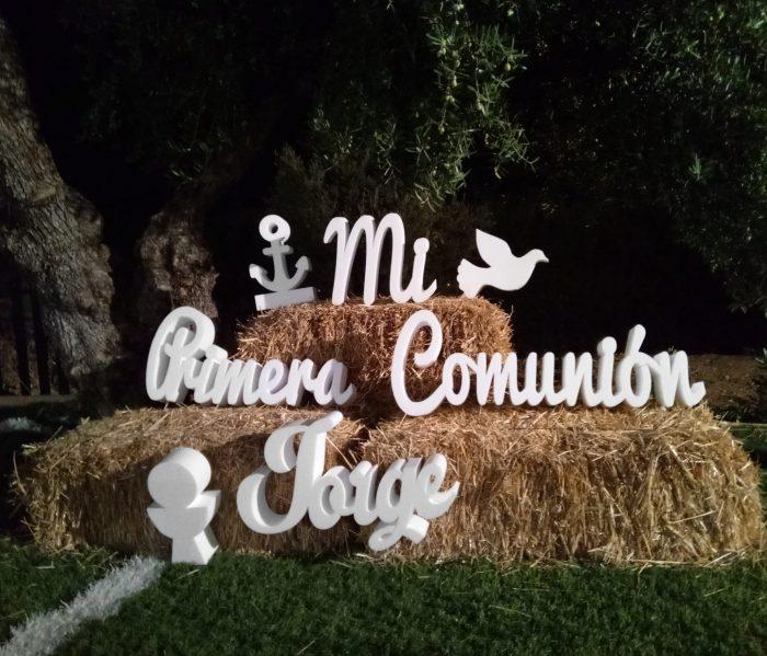 letras mi primera comunión en poliespán